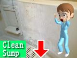浴槽パネルの石鹸カス作業前