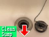 洗面排水口の汚れ
